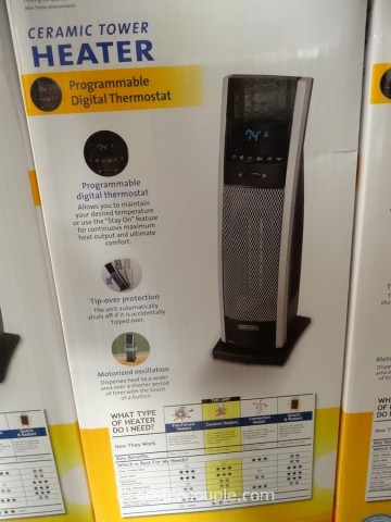 Bionaire Digital Ceramic Tower Heater Costco 2