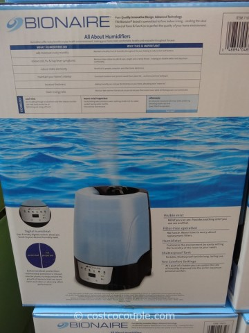 Bionaire Ultrasonic Humidifier Costco 2