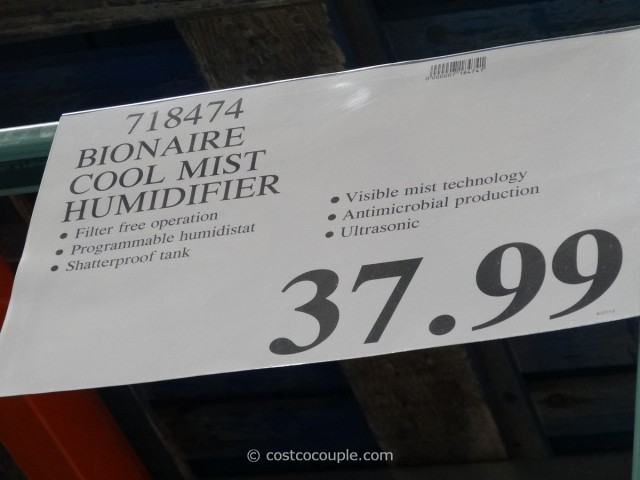 Bionaire Ultrasonic Humidifier Costco 3