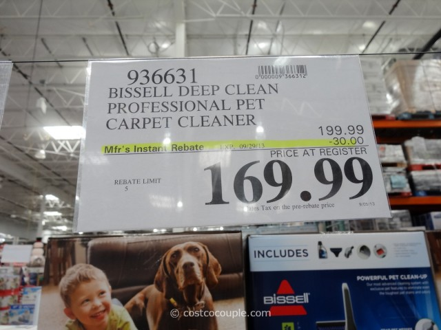 Bissell Deep Clean Professional Pet Carpet Cleaner Costco 2