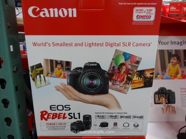Canon EOS Rebel SL1 DSLR Kit Costco 5