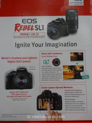 Canon EOS Rebel SL1 DSLR Kit Costco 6