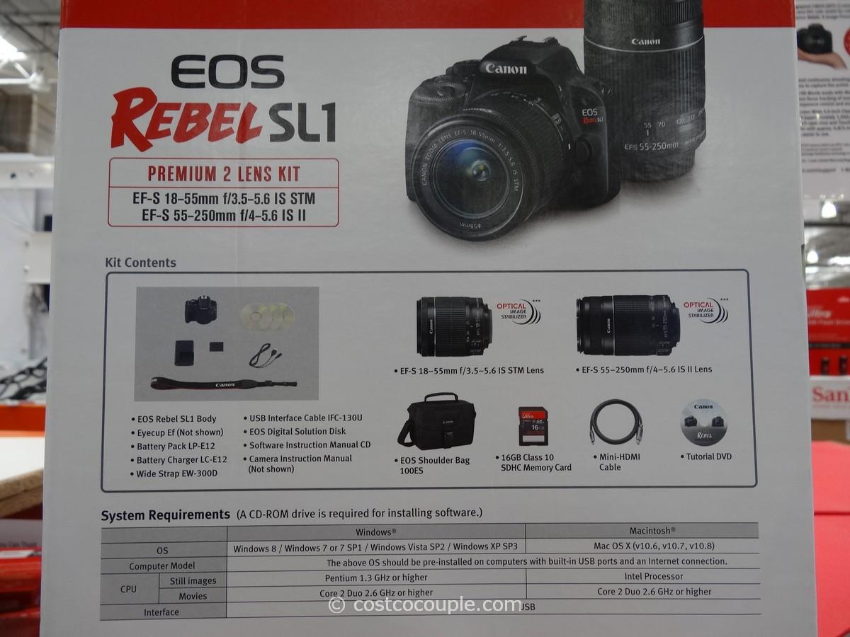Canon Eos Rebel Sl1 Dslr Kit