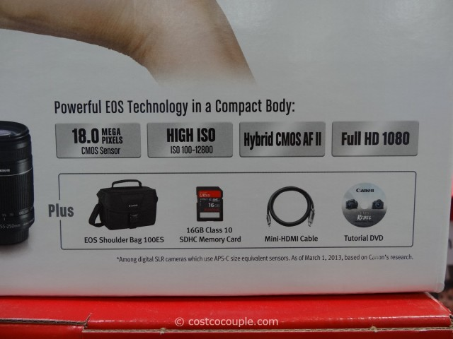 Canon EOS Rebel SL1 DSLR Kit Costco 8