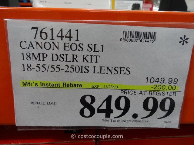 Canon EOS SL1 DSLR Kit Costco