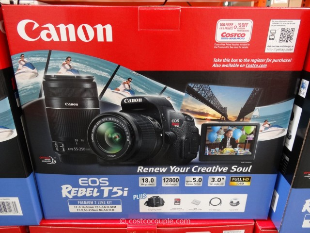 Canon Rebel T5i DSLR Kit Costco 3