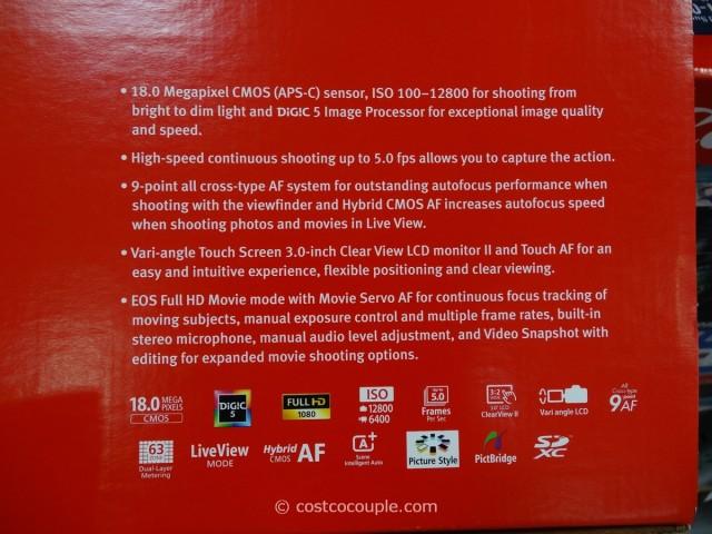 Canon Rebel T5i DSLR Kit Costco 4