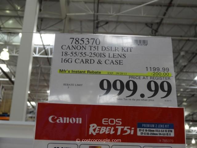 Canon Rebel T5i DSLR Kit Costco 5