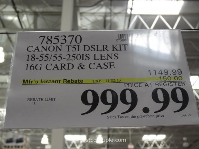 Canon Rebel T5i DSLR Kit Costco