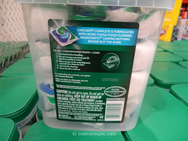 Cascade Complete Dishwasher Detergent Pacs Costco 2