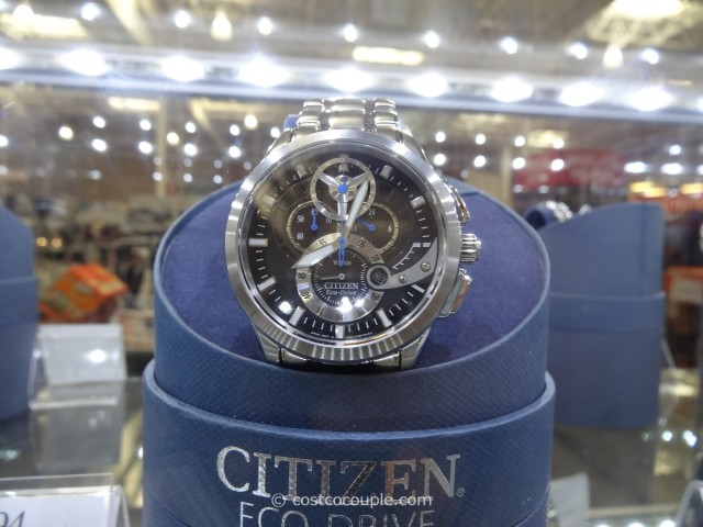 Citizen EcoDrive Black Chronograph Stainless Steel Band Costco 1