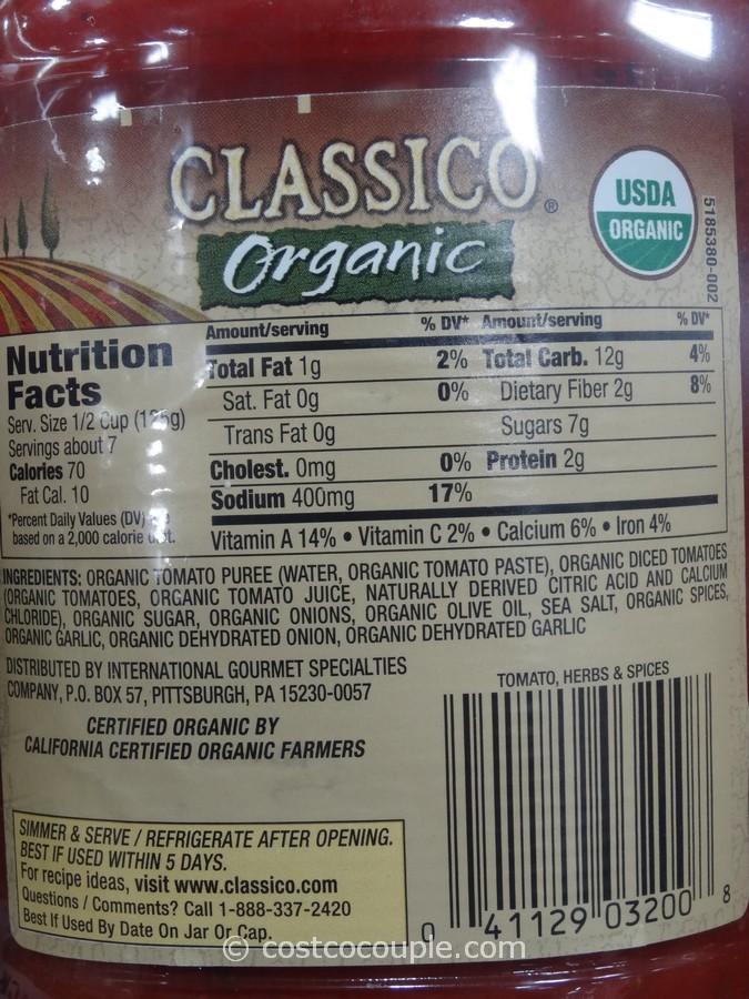 Classico Organic Pasta Sauce