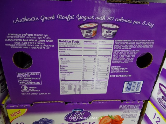 Dannon Greek Nonfat Yogurt Costco 2