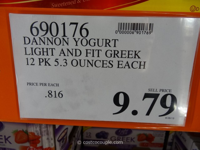 Dannon Greek Nonfat Yogurt Costco 3