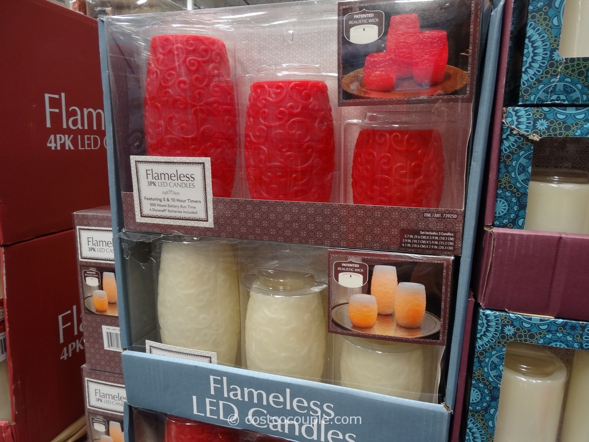 Decorative Flameless LED Candles With Timer Costco 1