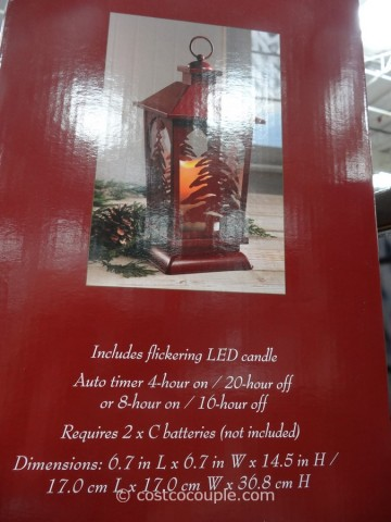Decorative Lantern with Flickering LED Candle Costco 2