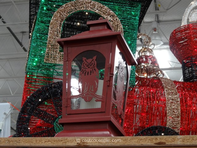Decorative Lantern with Flickering LED Candle Costco 4