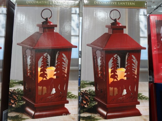 Decorative Lantern with Flickering LED Candle Costco 6