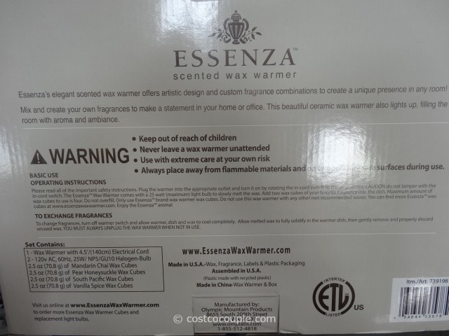 Essenza Scented Wax Warmer Costco 5