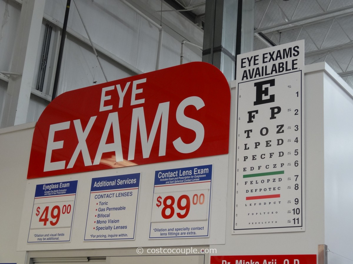 eye exams at costco