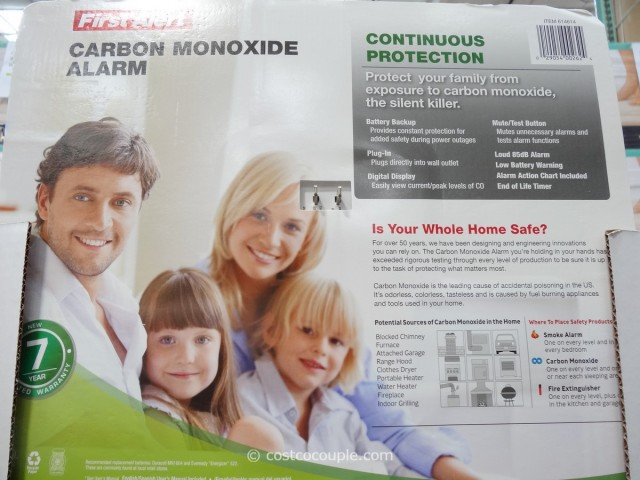 First Alert Digital Carbon Monoxide Alarm Costco 2
