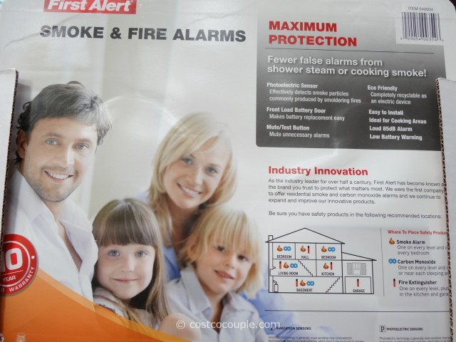 First Alert Photoelectric Fire and Smoke Alarm Costco 2