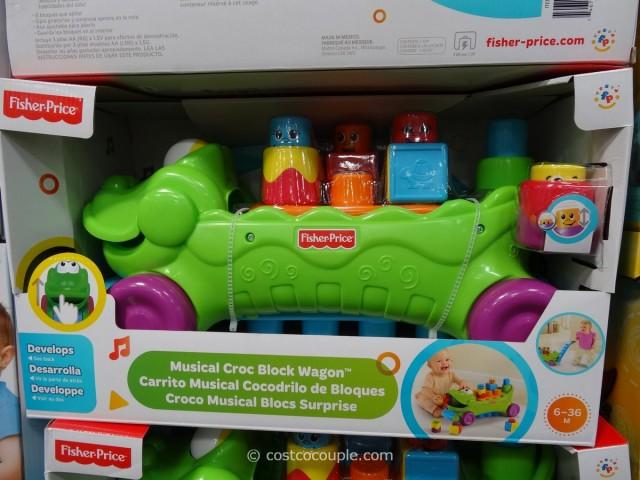 Fisher-Price Musical Croc Block Wagon
