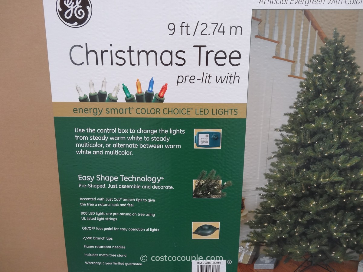 ge 9 feet prelit led christmas tree costco 2 - 9 Pre Lit Christmas Tree