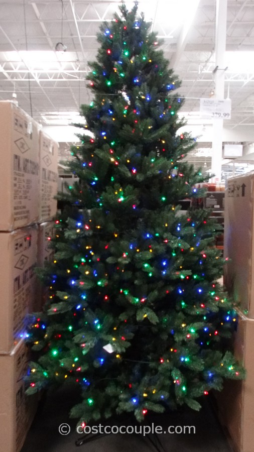 ge 9 feet prelit led christmas tree costco 4 - Pre Lighted Christmas Trees