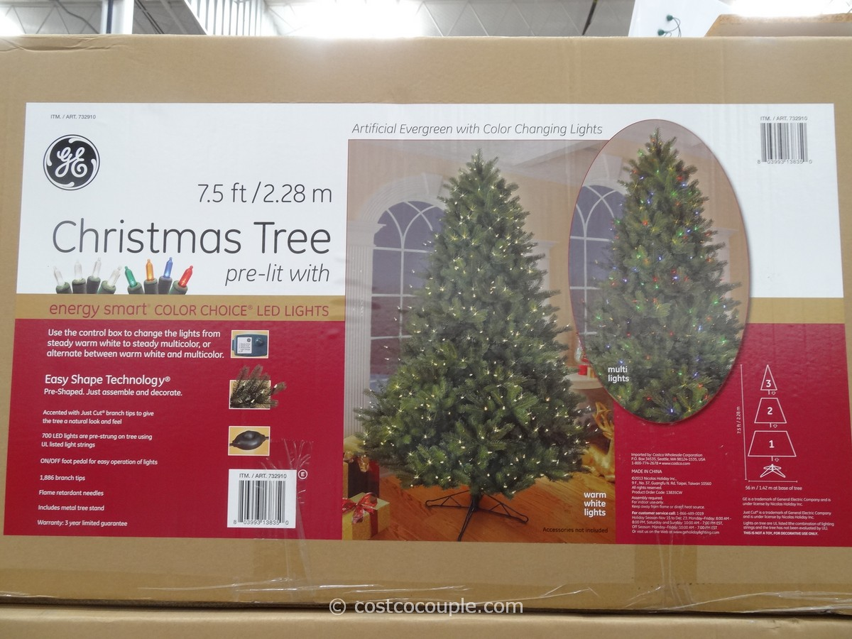 GE 7.5 Feet Prelit LED Christmas Tree