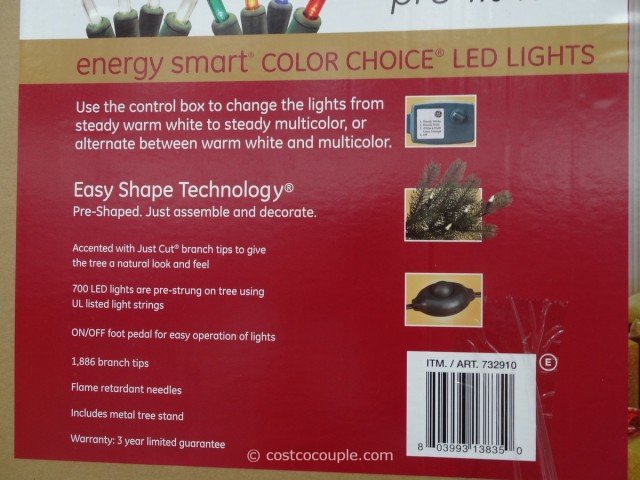 GE Prelit LED Christmas Tree Costco 4