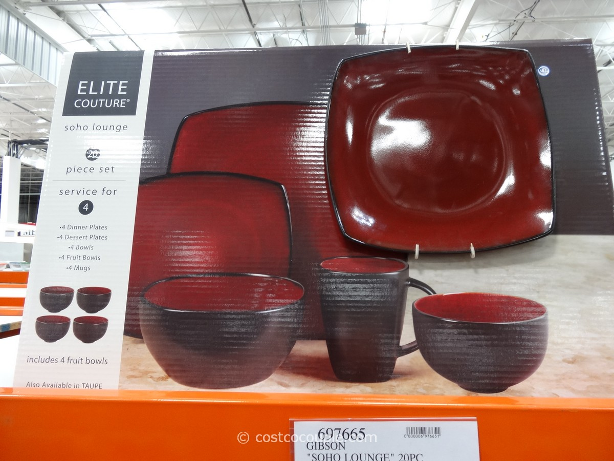 Gibson Soho Lounge Dinnerware Set Costco 1