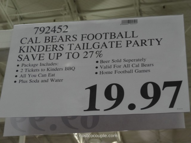 Gift Card Cal Bears Football Costco 2