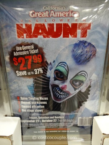 Gift Card Great America Halloween Costco 1