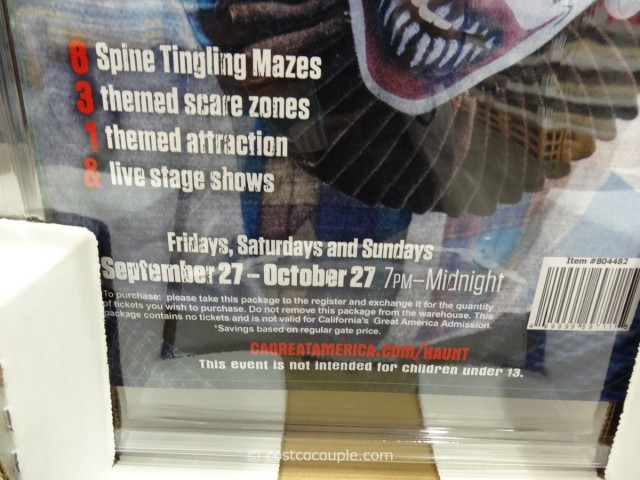 Gift Card Great America Halloween Costco 2