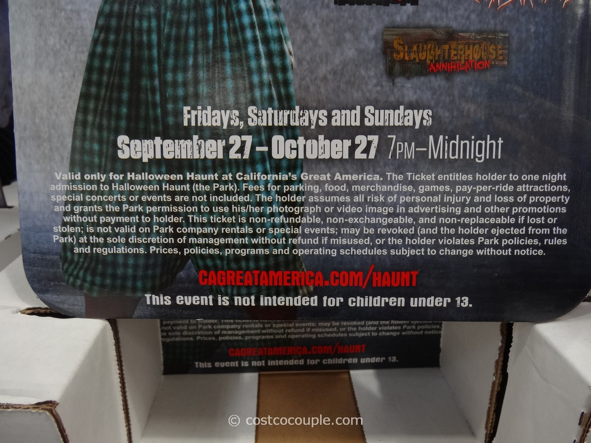 great america halloween haunt admission ticket