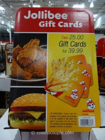 Gift Card Jollibee Costco 1
