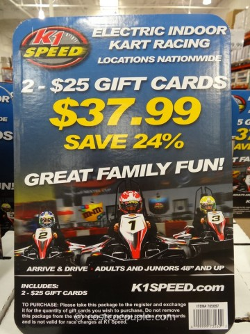 K1 Speed Discounted Gift Cards