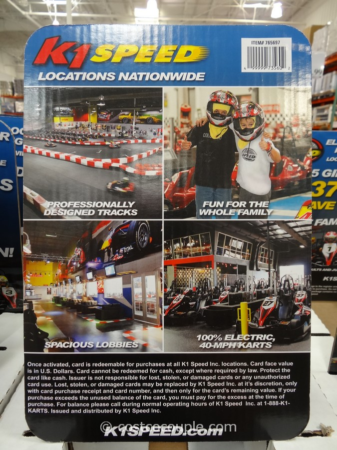 Gift Card K1 Speed Costco 2