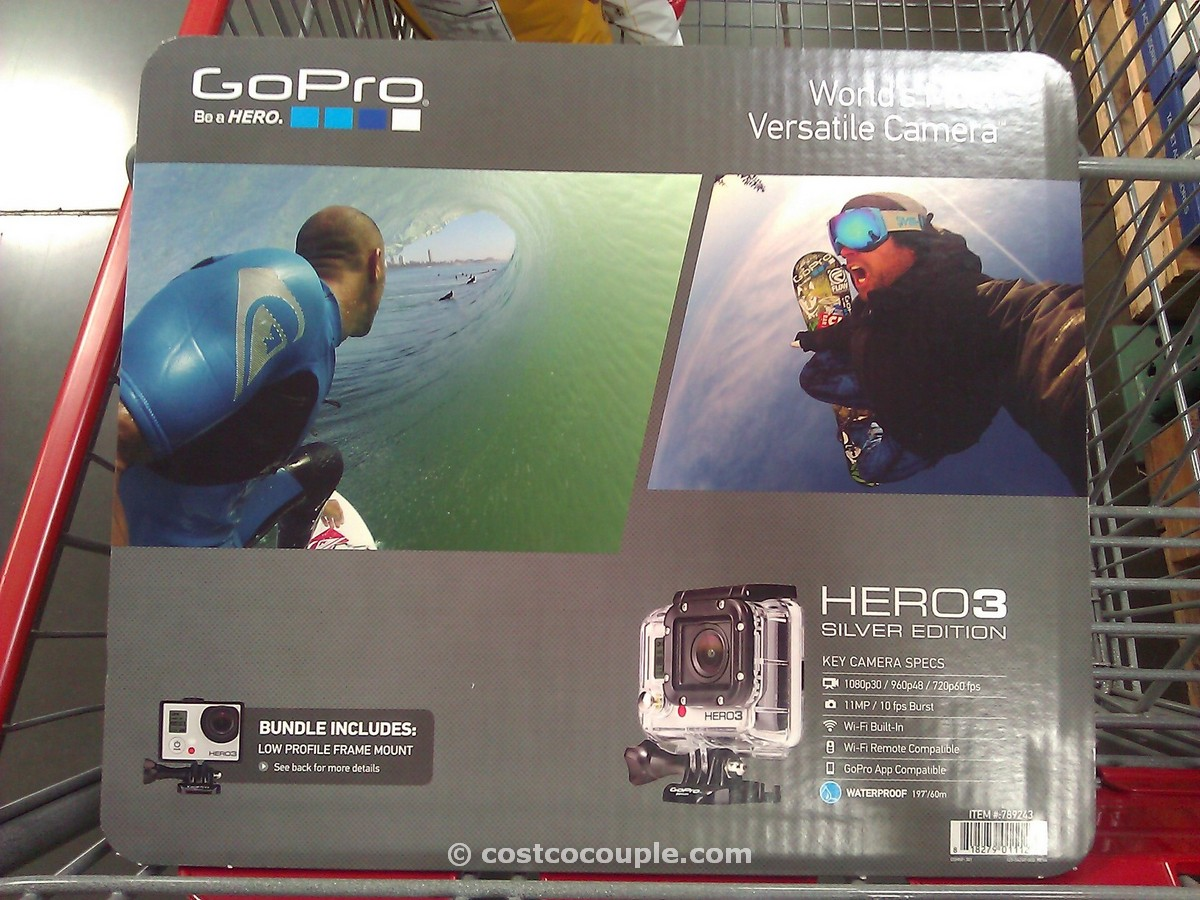 GoPro Hero3 Silver Edition Camera Costco 1