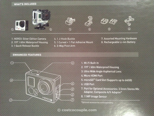 GoPro Hero3 Silver Edition Camera Costco 4