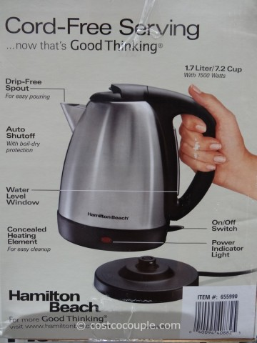 Hamilton Beach Stainless Steel Electric Kettle Costco 4