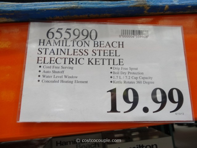 Hamilton Beach Stainless Steel Electric Kettle Costco 5