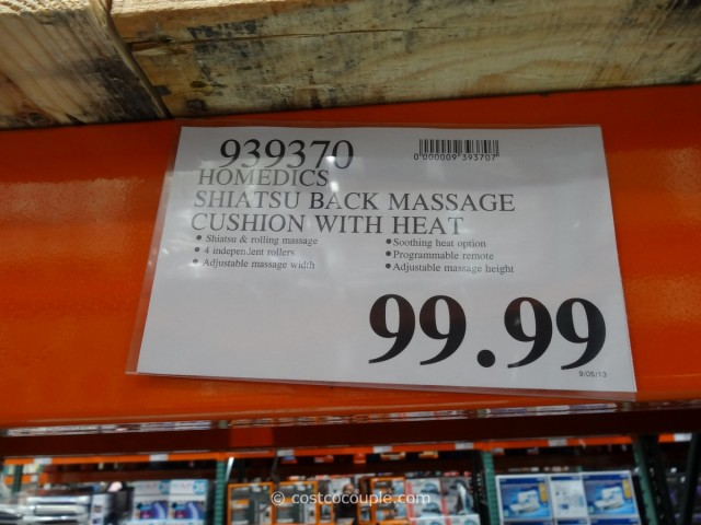 Homedics Shiatsu Back Massage Cushion Costco 1