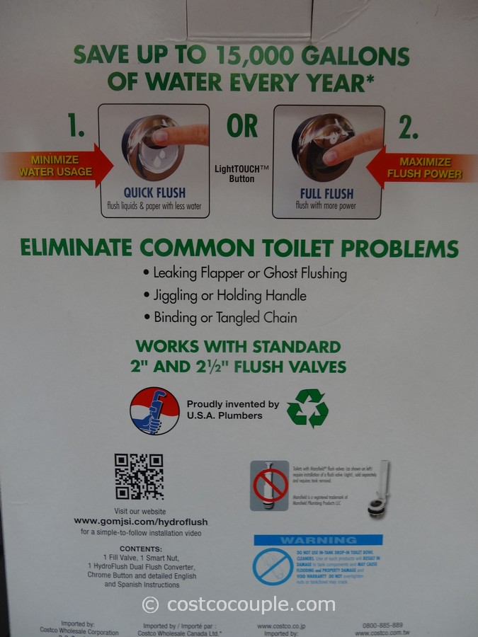 costco water ridge toilet manual