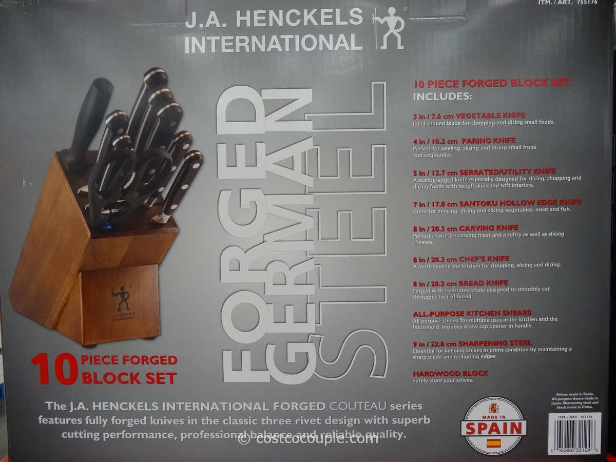 ja henckels 10 piece forged cutlery set
