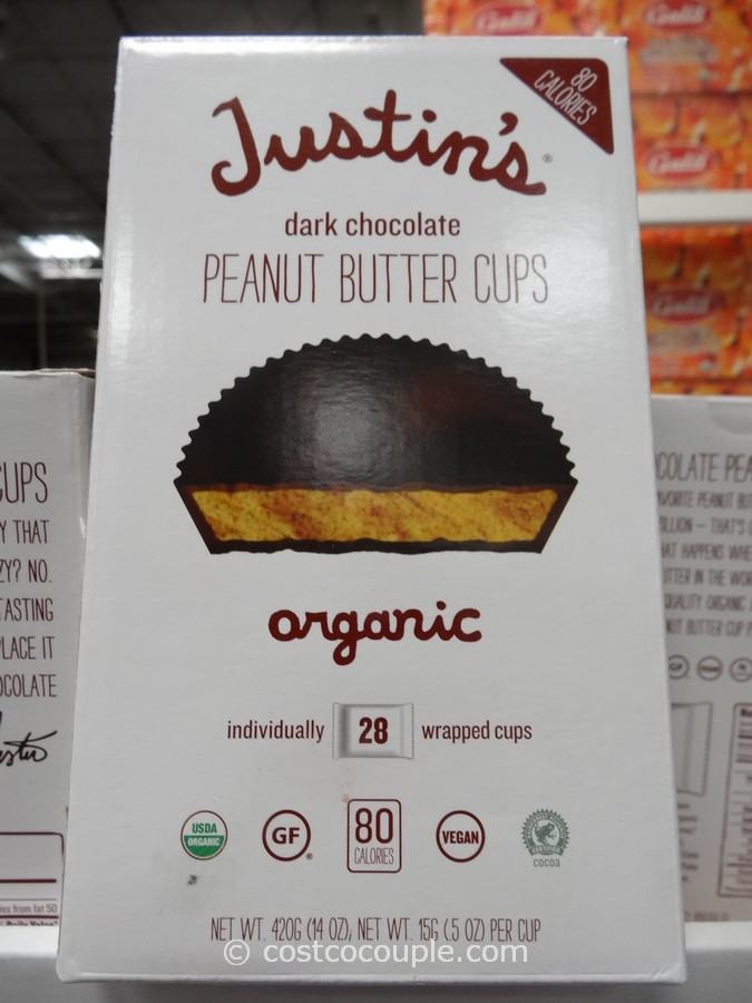 Justin S Organic Dark Chocolate Peanut Butter Cups
