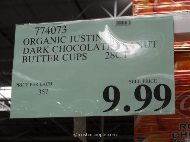 Justin's Organic Dark Chocolate Peanut Butter Cups Costco 4