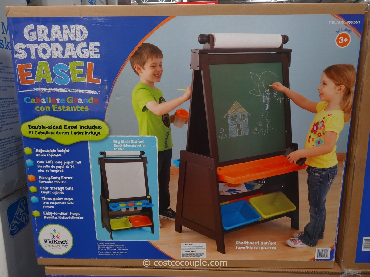 KidKraft Grand Storage Easel Costco 2 KidKraft Grand Storage Easel Costco 1  ...
