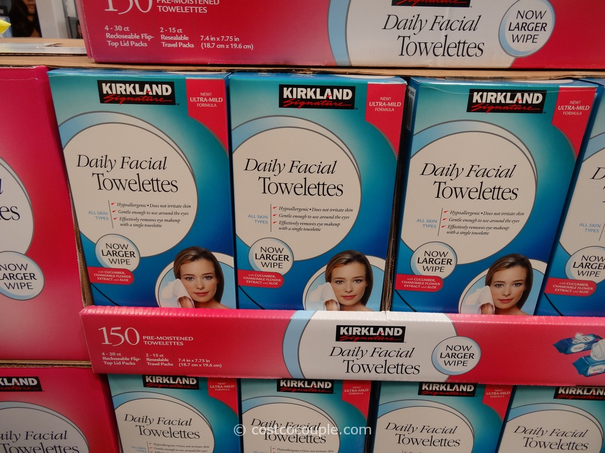 Kirkland Signature Daily Facial Towelettes Costco 1